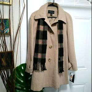 London Fog Coat with Scarf Small